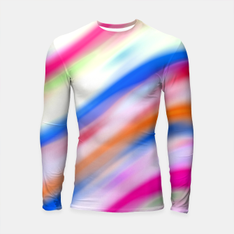 Thumbnail image of Vivid Colorful Wavy Abstract Print Longsleeve rashguard , Live Heroes