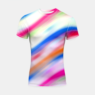 Vivid Colorful Wavy Abstract Print Shortsleeve rashguard obraz miniatury