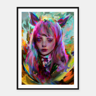 Miniature de image de ahri league of legends Framed poster, Live Heroes