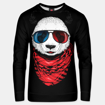Thumbnail image of Hipster Panda Unisex sweater, Live Heroes