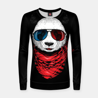 Thumbnail image of Hipster Panda Women sweater, Live Heroes