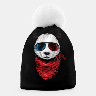 Thumbnail image of Hipster Panda Beanie, Live Heroes