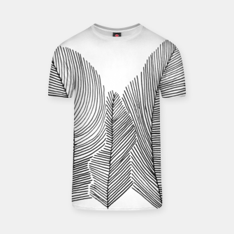 Thumbnail image of Feathers sketched T-Shirt, Live Heroes