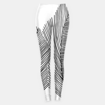 Thumbnail image of Feathers sketched Leggings, Live Heroes