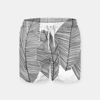 Miniatur Feathers sketched Badeshorts, Live Heroes