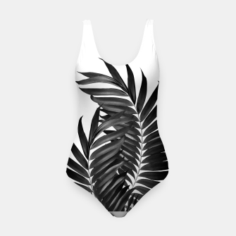 Miniature de image de Palm Leaves Black & White Vibes #5 #tropical #decor #art Badeanzug, Live Heroes