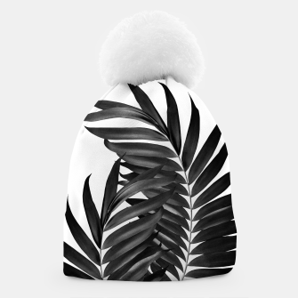 Thumbnail image of Palm Leaves Black & White Vibes #5 #tropical #decor #art Mütze, Live Heroes