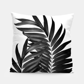 Thumbnail image of Palm Leaves Black & White Vibes #5 #tropical #decor #art Kissen, Live Heroes