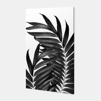 Thumbnail image of Palm Leaves Black & White Vibes #5 #tropical #decor #art Canvas, Live Heroes