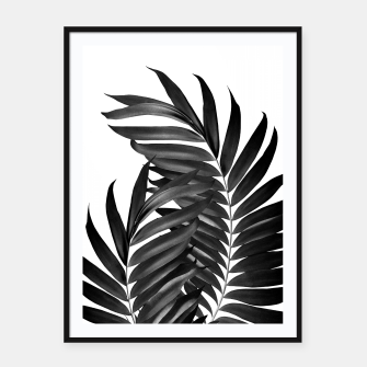 Miniature de image de Palm Leaves Black & White Vibes #5 #tropical #decor #art Plakat mit rahmen, Live Heroes