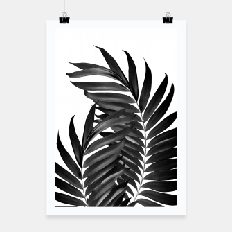 Thumbnail image of Palm Leaves Black & White Vibes #5 #tropical #decor #art Plakat, Live Heroes