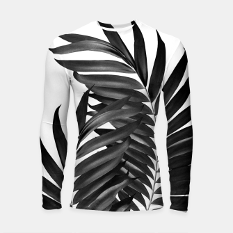 Miniature de image de Palm Leaves Black & White Vibes #5 #tropical #decor #art Longsleeve rashguard, Live Heroes