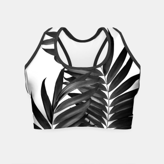 Imagen en miniatura de Palm Leaves Black & White Vibes #5 #tropical #decor #art Crop Top, Live Heroes