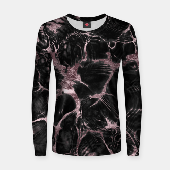Thumbnail image of Undefined Mauve Gold Abstract #1 #decor #art  Frauen sweatshirt, Live Heroes