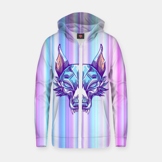 Thumbnail image of Blurring Live Wolves Zip up hoodie, Live Heroes