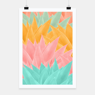 Thumbnail image of Agave Summer Dream #1 #tropical #decor #art Plakat, Live Heroes