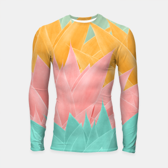 Miniature de image de Agave Summer Dream #1 #tropical #decor #art Longsleeve rashguard, Live Heroes