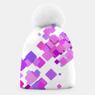 Thumbnail image of Pink Blocks Beanie, Live Heroes