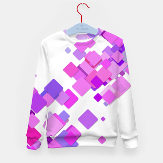 Thumbnail image of Pink Blocks Kid's sweater, Live Heroes