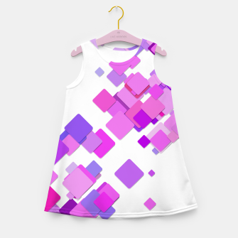 Thumbnail image of Pink Blocks Girl's summer dress, Live Heroes