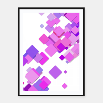 Thumbnail image of Pink Blocks Framed poster, Live Heroes