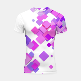 Thumbnail image of Pink Blocks Shortsleeve rashguard, Live Heroes