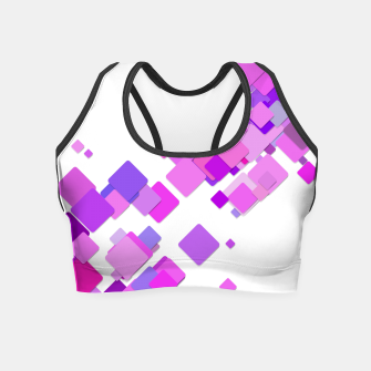 Thumbnail image of Pink Blocks Crop Top, Live Heroes