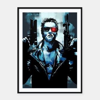 Thumbnail image of Terminator Framed poster, Live Heroes