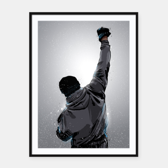 Thumbnail image of Rocky Framed poster, Live Heroes