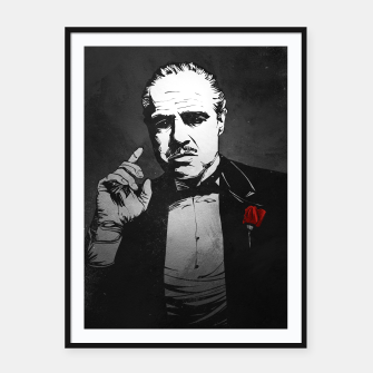 Thumbnail image of The Godfather Framed poster, Live Heroes