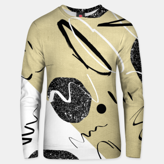 Thumbnail image of Gold Black White Abstract Glam #1 #trendy #decor #art  Unisex sweatshirt, Live Heroes