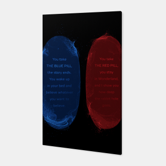 Thumbnail image of Red Pill Blue Pill Canvas, Live Heroes