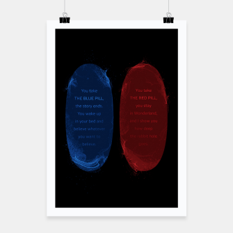 Thumbnail image of Red Pill Blue Pill Poster, Live Heroes