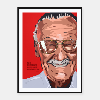 Thumbnail image of Stan Lee Framed poster, Live Heroes