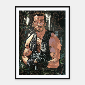 Thumbnail image of Commando Framed poster, Live Heroes