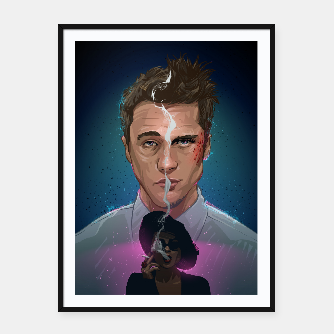 Image of Fight Club Framed poster - Live Heroes