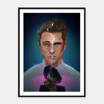 Thumbnail image of Fight Club Framed poster, Live Heroes