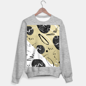 Thumbnail image of Gold Black White Abstract Glam #1 #trendy #decor #art  Sweatshirt regulär, Live Heroes