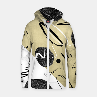 Miniature de image de Gold Black White Abstract Glam #1 #trendy #decor #art  Reißverschluss kapuzenpullover, Live Heroes