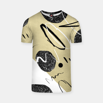 Thumbnail image of Gold Black White Abstract Glam #1 #trendy #decor #art  T-Shirt, Live Heroes