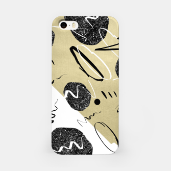 Thumbnail image of Gold Black White Abstract Glam #1 #trendy #decor #art  iPhone-Hülle, Live Heroes