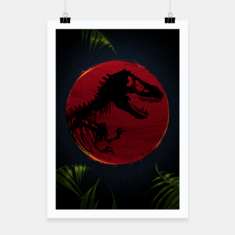Thumbnail image of Jurassic Park Poster, Live Heroes