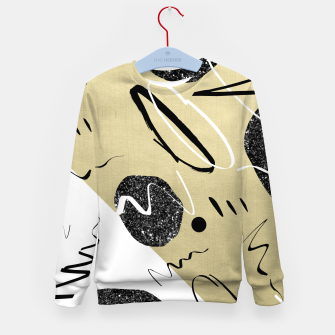Thumbnail image of Gold Black White Abstract Glam #1 #trendy #decor #art  Kindersweatshirt, Live Heroes