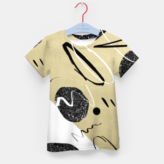 Thumbnail image of Gold Black White Abstract Glam #1 #trendy #decor #art  T-Shirt für kinder, Live Heroes