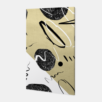 Thumbnail image of Gold Black White Abstract Glam #1 #trendy #decor #art  Canvas, Live Heroes