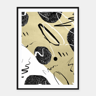 Thumbnail image of Gold Black White Abstract Glam #1 #trendy #decor #art  Plakat mit rahmen, Live Heroes