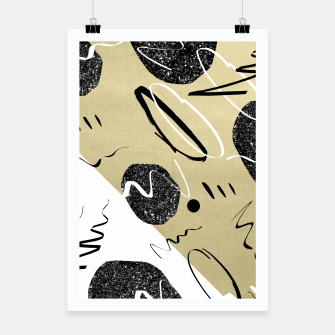 Thumbnail image of Gold Black White Abstract Glam #1 #trendy #decor #art  Plakat, Live Heroes