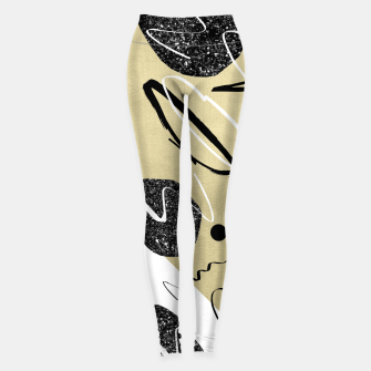 Thumbnail image of Gold Black White Abstract Glam #1 #trendy #decor #art  Leggings, Live Heroes