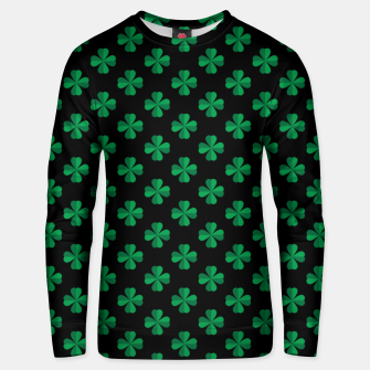 Thumbnail image of Shamrocks Pattern  Unisex sweater, Live Heroes