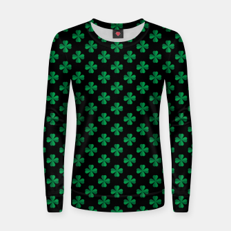 Thumbnail image of Shamrocks Pattern  Women sweater, Live Heroes